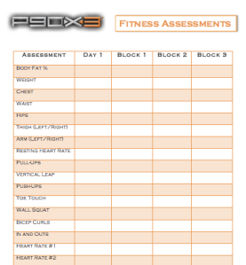 P90x3 Fitness Sments