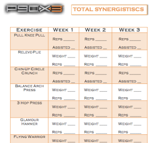 P90x3 Total Synergistics Tracking Sheet